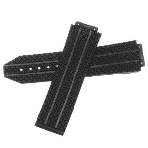 Vervanging 24mm Rubber horlogebandje Strap voor HUBLOT 44-45 H BIG BANG