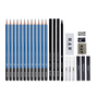 H&B HB-26SSHB 26 Beginner Sketch Wood Pencil Drawing Tool Set Art Painting Set For Student Study